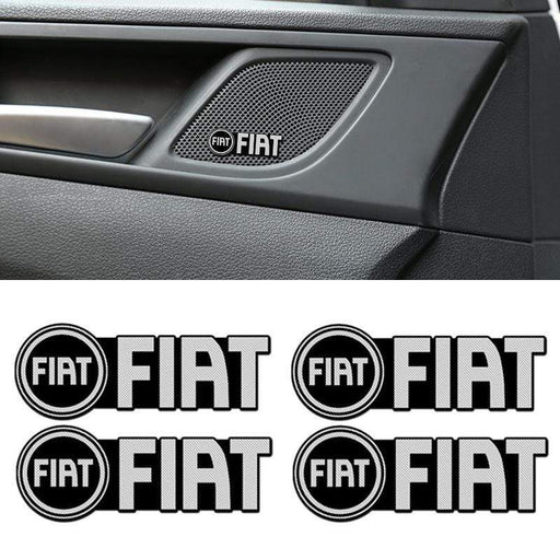 4 pcs Fiat Door Speaker Emblem Stickers