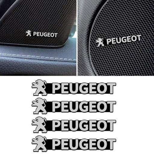 4 pcs Peugeot Door Speaker Emblem Stickers