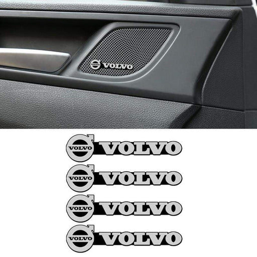 4 pcs Volvo Door Speaker Emblem Stickers