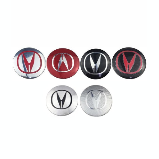 4pcs 56 mm Acura Wheel Center Stickers