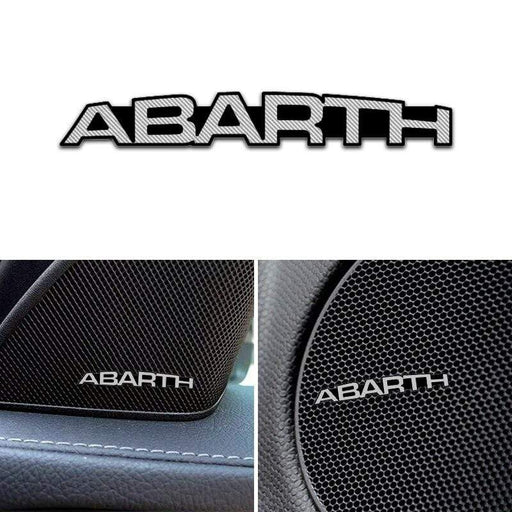 4pcs FIAT Abarth Door Speaker Emblem Stickers 4PCS