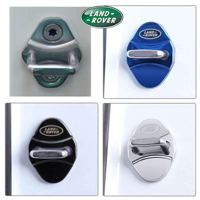 4pcs Land Rover Logo Door Lock Cover for Freelander Discovery