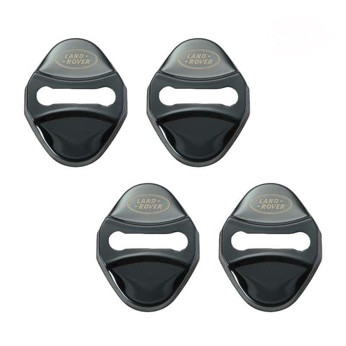 4pcs Land Rover Logo Door Lock Cover for Freelander Discovery Black