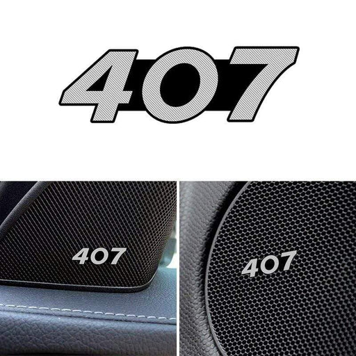 4pcs Peugeot 407 Door Speaker Emblem Stickers