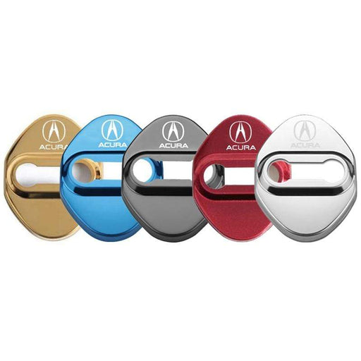 ACURA 4pcs Acura Logo Door Lock Cover for CDX TLX ect Door Lock Cover