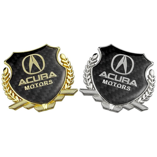 ACURA Acura Motors Carbon Shield Logo Emblem Emblem Stickers