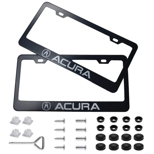 2pcs Acura License Plate Frames with Screw Caps