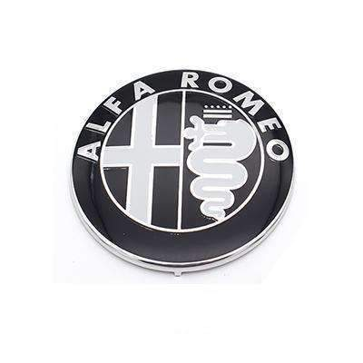 ALFA ROMEO 2pcs Alfa Romeo Logo 74mm Emblems Stickers Black