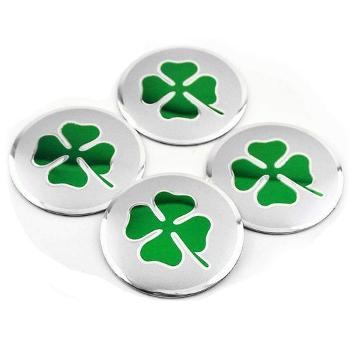 ALFA ROMEO 4pcs Four Leaf Clover Wheel Center Stickers for Alfa Romeo Wheel Center Caps