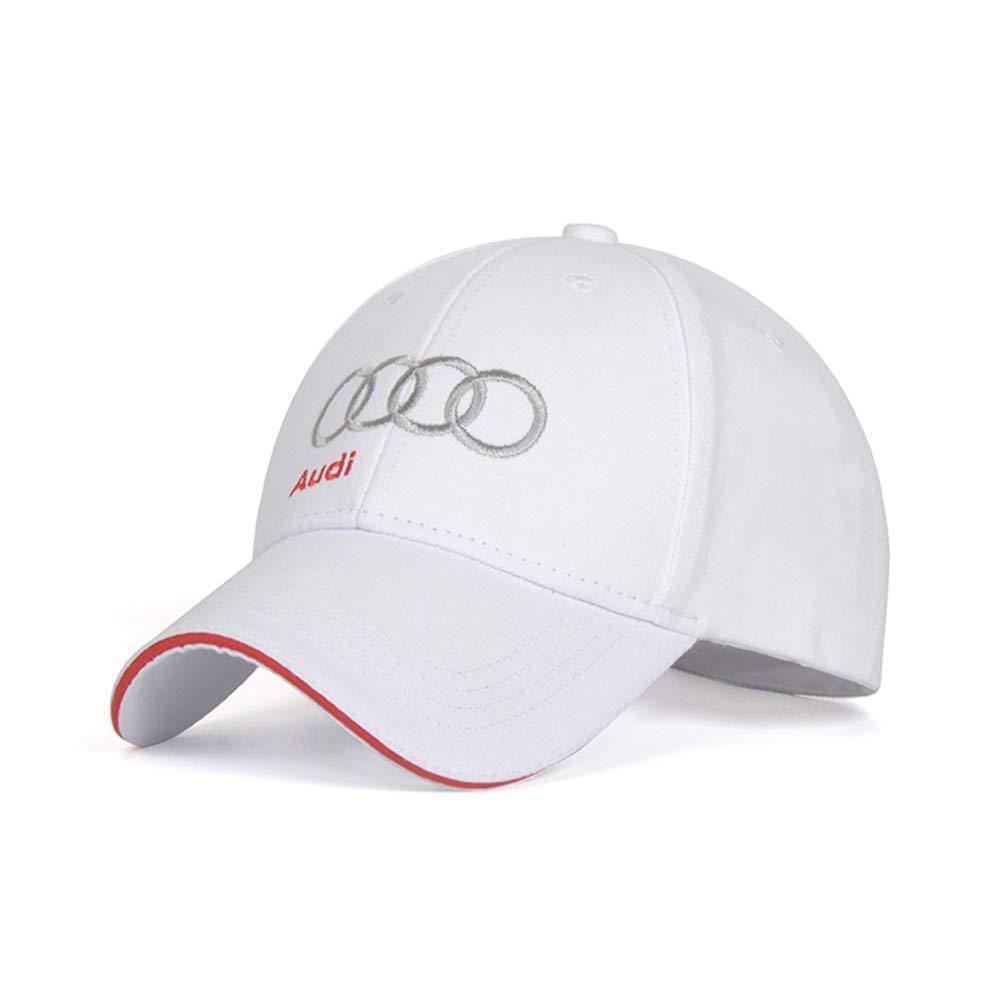 Autoxo Car Logo Embroidered Baseball Cap Auto F1 Racing Hat Adjustable Size for Benz Accessory Black hat-White Letter