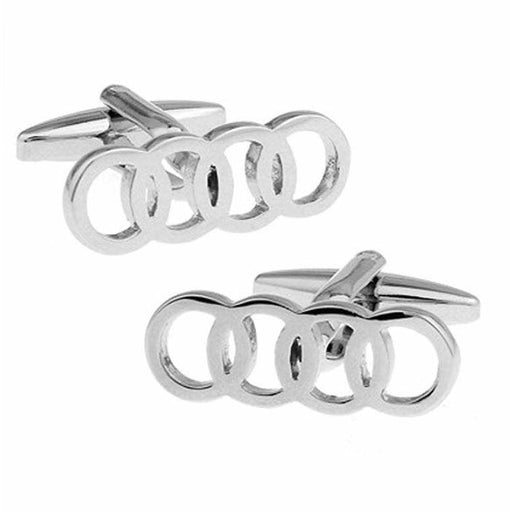 2pcs Audi Logo Men's Shirt Cufflinks