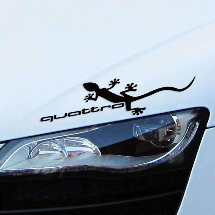 AUDI 2 pcs Vinyl Quattro Mirror Stickers For Audi Decals