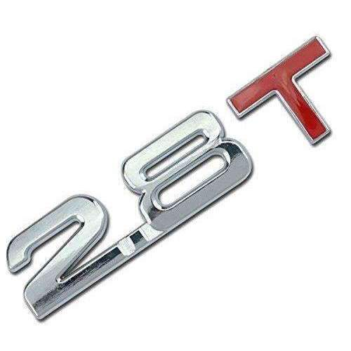 AUDI 2.8T Metal Red Emblem Sticker Audi Emblems Stickers