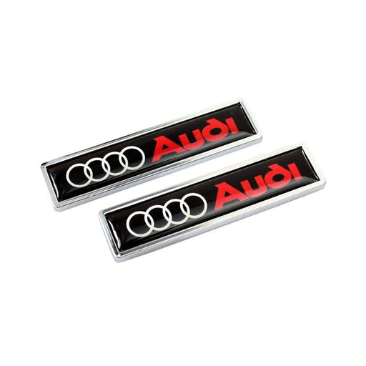 AUDI 2pcs Audi Logo Emblem Fender Stickers Emblems Stickers