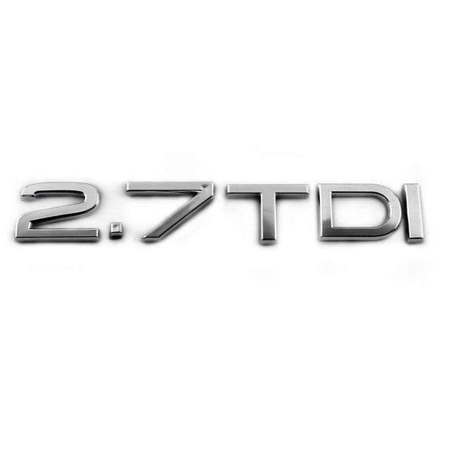 AUDI AUDI 2.7 TDI Silver Emblem Sticker Emblems Stickers