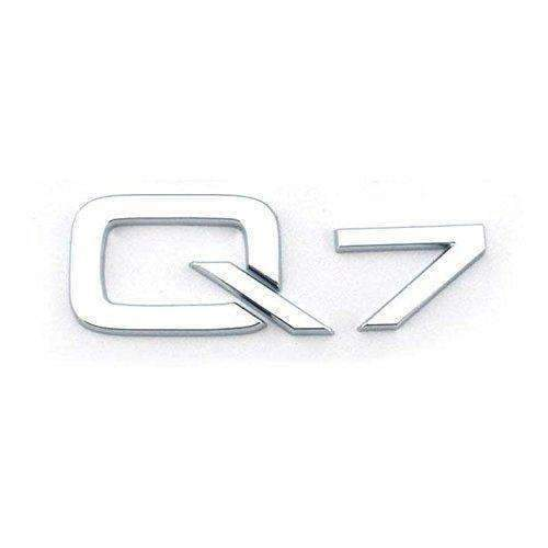 AUDI Q7 Trunk Emblem for Audi Q7 [Silver, ABS, Sticker] Emblems Stickers