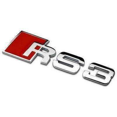 AUDI RS3 Car Trunk Emblem for Audi [Silver, Metal, Sticker] Emblems Stickers