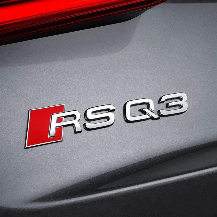 AUDI RSQ3 Emblem for Audi [Silver, Metal, Car Sticker] Emblems Stickers