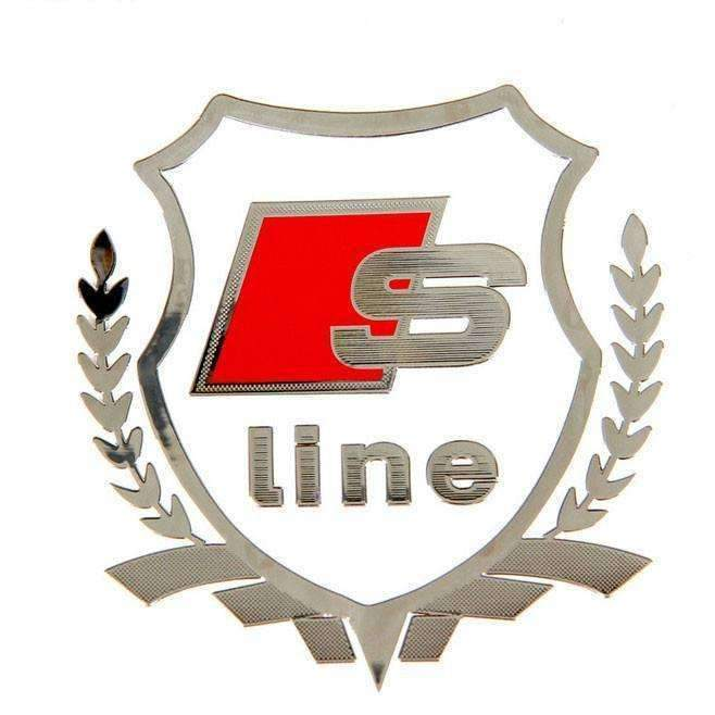 AUDI S-line Emblem Windows Sticker for Audi Emblems Stickers