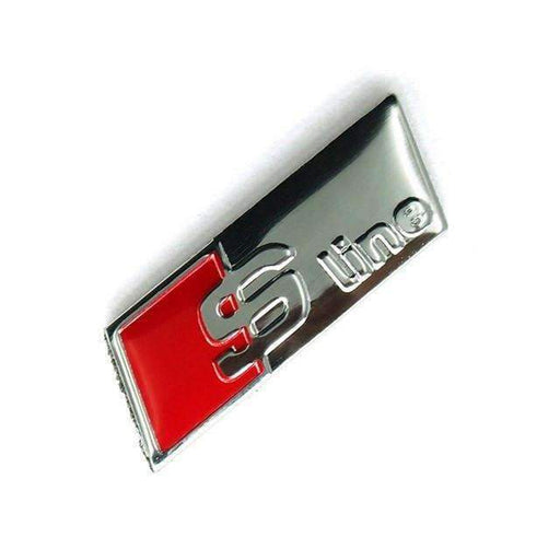 AUDI S-Line Steering Wheel Emblem For Audi [Glossy Silver, Metal, Sticker] Emblems Stickers