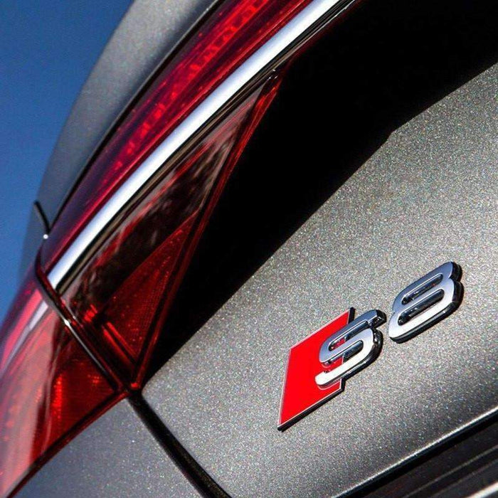 AUDI S8 Tail Emblem For Audi S-Line [Silver, Metal, Sticker] Emblems Stickers