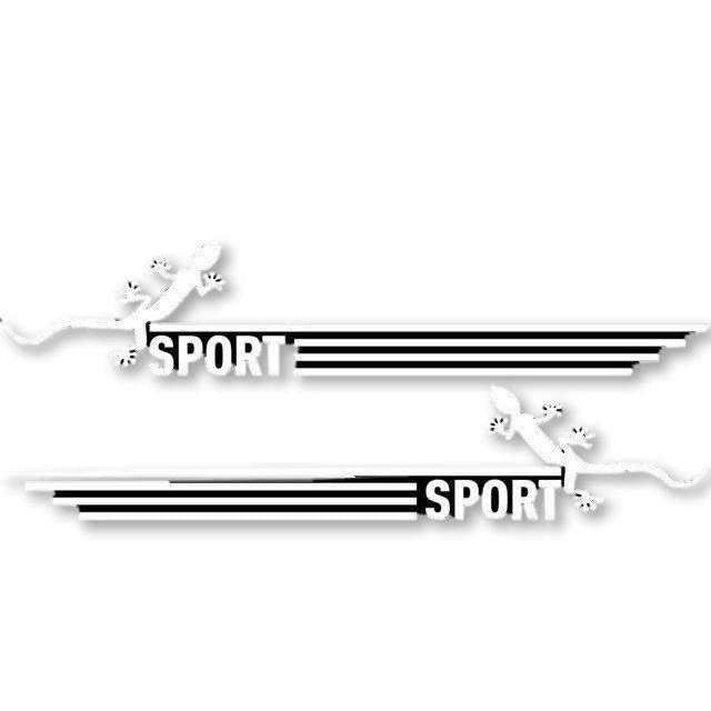AUDI 2 Pcs Quattro Sport Mirror Vinyl Stickers for Audi Decals Silver
