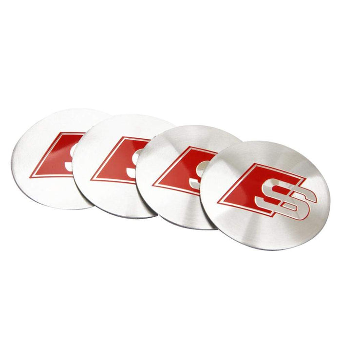 4pcs 56.5mm Audi S-Line Wheel Centre Stickers