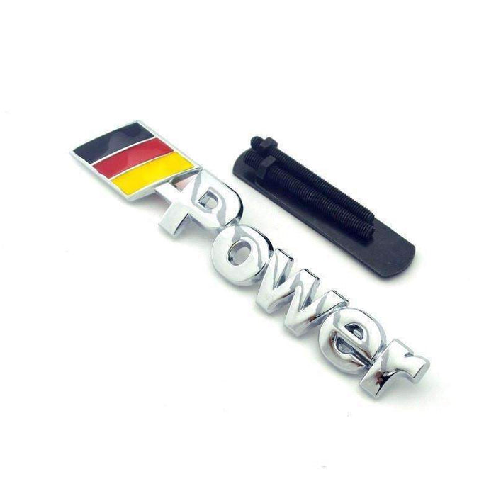 M Power Grille Hood Emblem for BMW [Silver, Metal, for Grille]