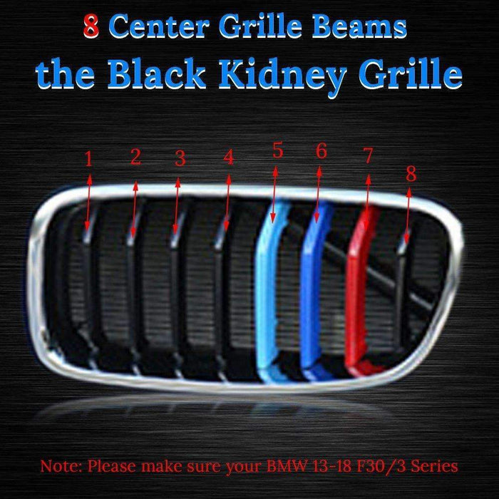 BMW M Power Stripe Grille for BMW Front 3 Series Kidney Grills Emblems for Grille
