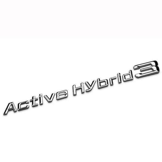 BMW Active Hybrid 3 Emblem for BMW [Silver, Metal, Sticker] Emblems Stickers