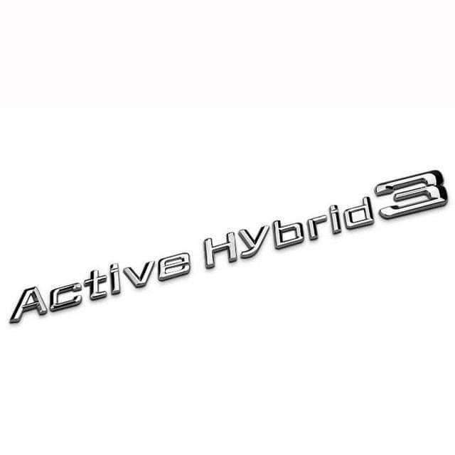 Active Hybrid 3 Emblem for BMW [Silver, Metal, Sticker]