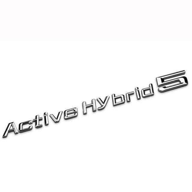 BMW Active Hybrid 5 Emblem for BMW [Silver, Metal, Sticker] Emblems Stickers