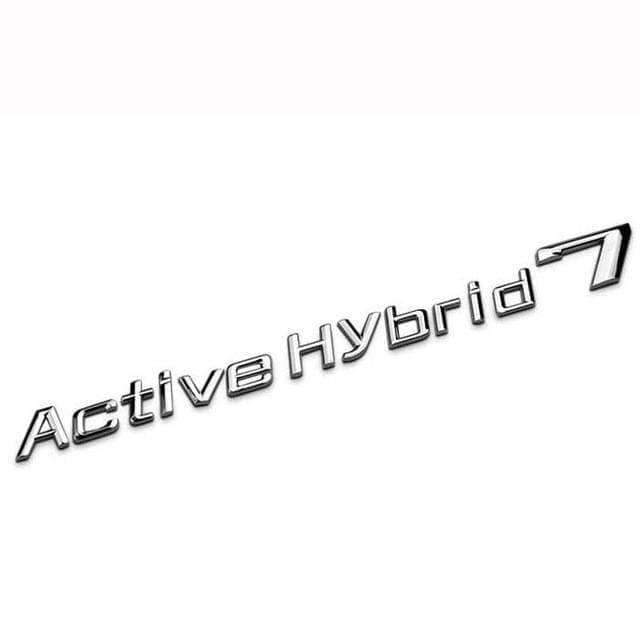 Active Hybrid 7 Emblem for BMW [Silver, Metal, Sticker]