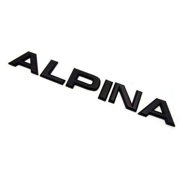 BMW Alpina Emblem for BMW [Black, ABS, Sticker] Emblems Stickers