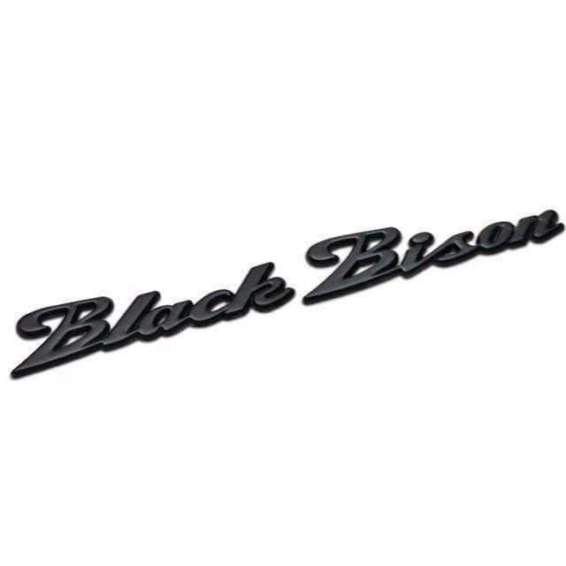BMW Black Bison Emblem for BMW [Matte Black, Metal, Sticker] Emblems Stickers