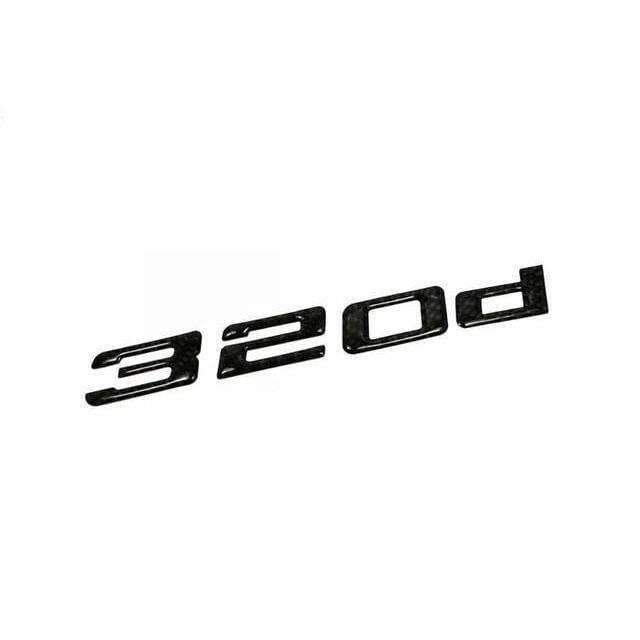 BMW Carbon Fibre 320d Emblem for BMW Emblems Stickers