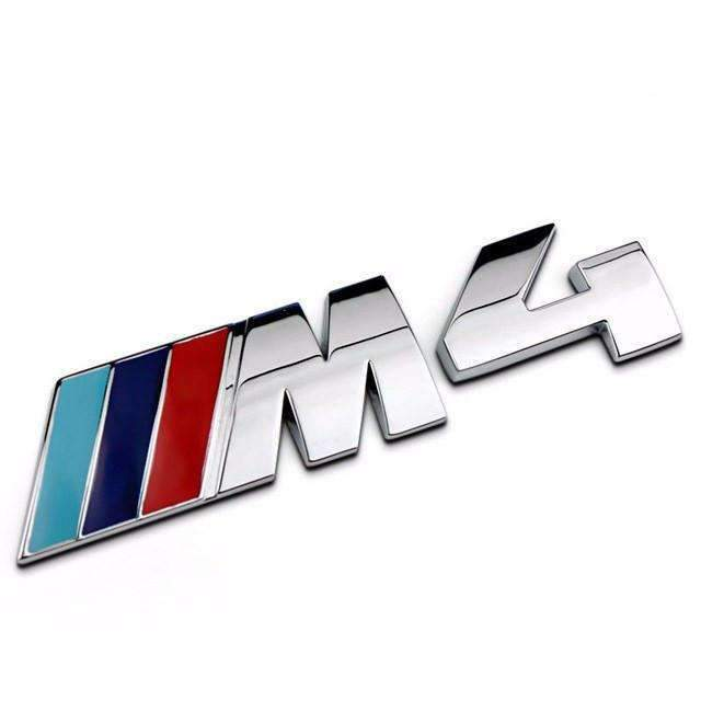 BMW Metal Silver M4 Emblem for BMW 4 Series Emblems Stickers