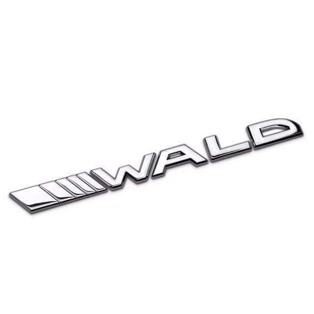 BMW Wald Emblem for BMW [Silver, Metal, Sticker] Emblems Stickers