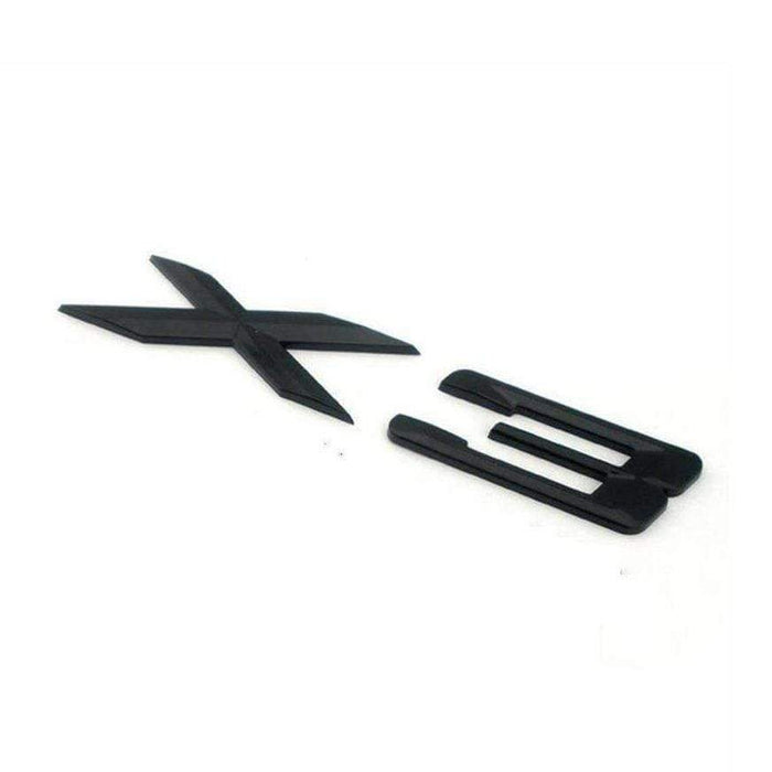 X3 Emblem for BMW X3 [Shiny Black, ABS, Sticker]