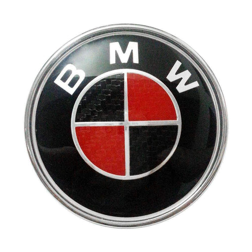BMW Hood Emblem 82mm Black & Red BMW Hood Emblem