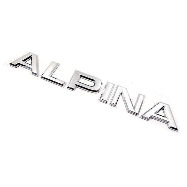 Alpina Emblem Sticker for BMW Silver