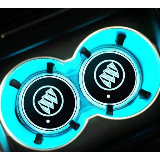 2pcs Buick Led Cup Holder Mat Pad Only Logo