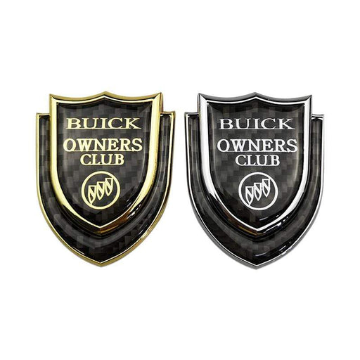 Car Buick Logo Owners Club Shield Emblem Sticker