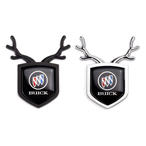 BUICK 2pcs Buick Logo Shield Antler Emblems Emblems Stickers