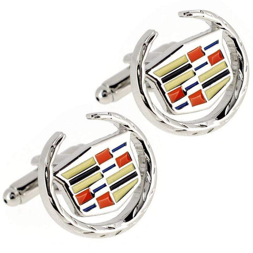 2pcs Cadillac Logo Men's Shirt Cufflinks