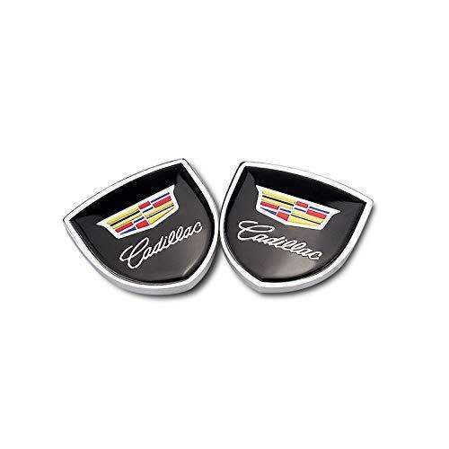 CADILLAC 2pcs Shield Cadillac Badge Black Emblems Emblems Stickers