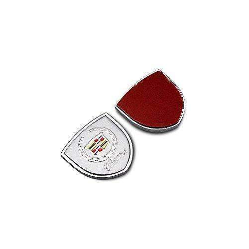 CADILLAC 2pcs Shield Silver Badge For Cadillac Metal Sticker Emblems Stickers