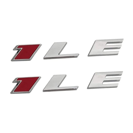 2pcs 1LE Emblem Sticker for Chevrolet - Red+Silver