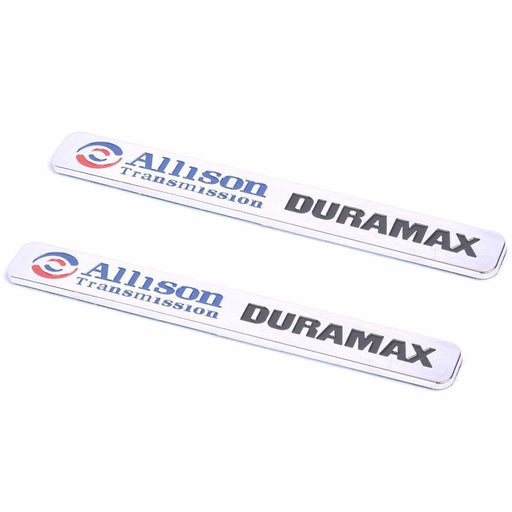 2pcs Chevrolet Allison Transmission Duramax Emblem Stickers