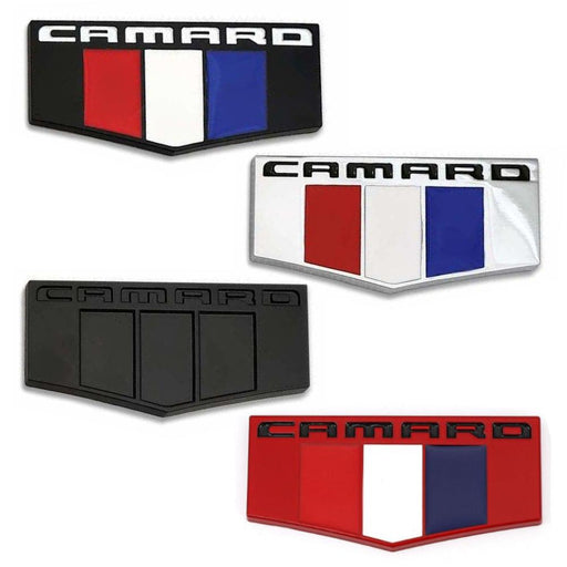 2pcs Camaro France Flag Emblem for Chevrolet